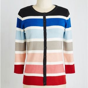 Modcloth Striped Cardigan